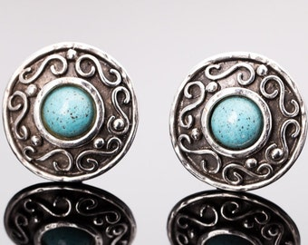 Vintage Edouard Rambaud Etruscan Revival Clip Earrings