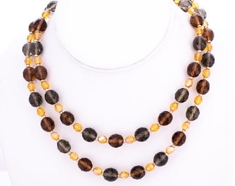 Vintage Joan Rivers Classics Collection Swarovski Crystal Beaded Necklace