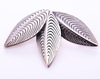 "RARE Vintage Eigil Jensen for Anton Michelsen Sterling Silver Modernist ""Goose Feather"" Brooch"
