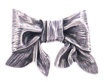 RARE Vintage James Avery Sterling Silver Bow Brooch
