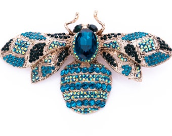 Estate Rhinestone Insect Statement Brooch