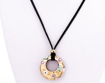 Vintage Vetro di Murano Art Glass Pendant Necklace