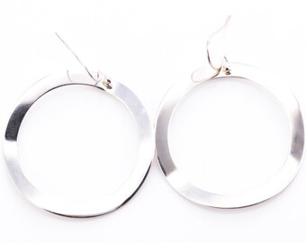 Ippolita Sterling Silver Wavy Circle Earrings
