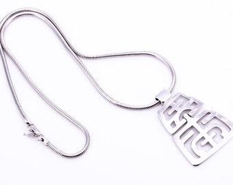 Vintage Trifari Asian Inspired Pendant Necklace