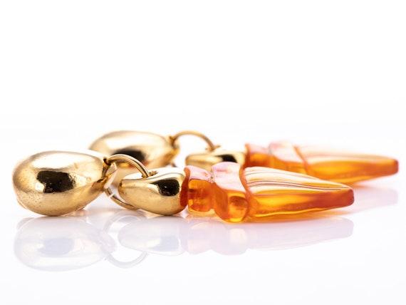 Vintage Claire Deve Resin Statement Clip Earrings - image 8