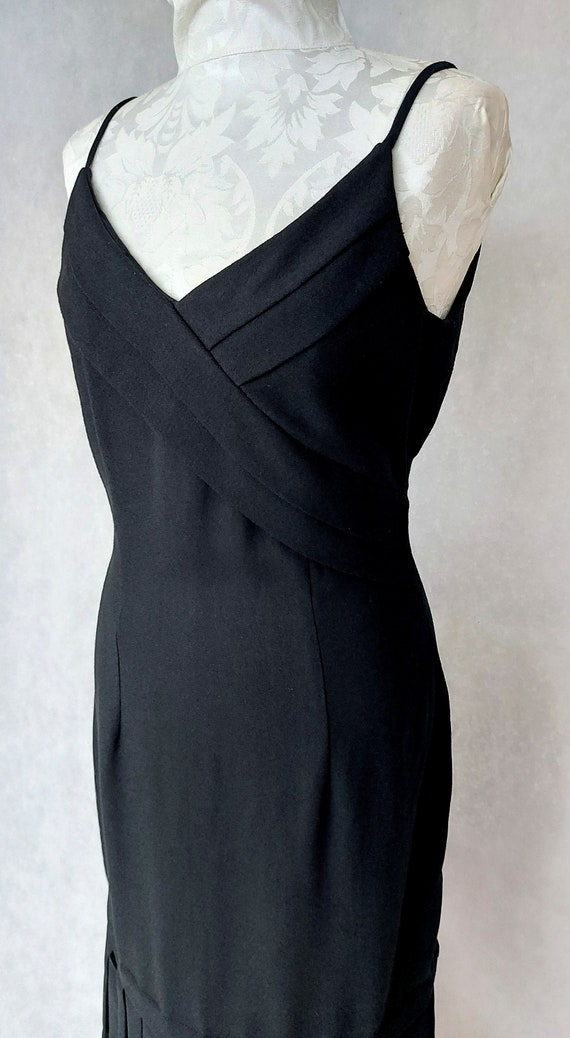 Vintage Black Maxi Dorothy Perkins Slip Dress, Med