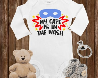 Custom Toddler T-Shirt Cape is in Washer Really A Superhero Boy /& Girl Clothes