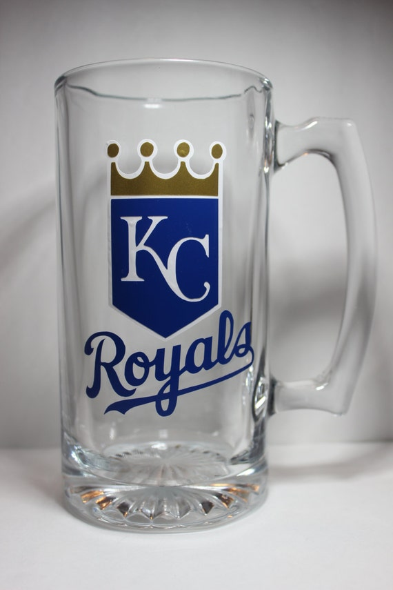 KANSAS CITY ROYALS Personalized Glass Beer Mug perfect for | Etsy