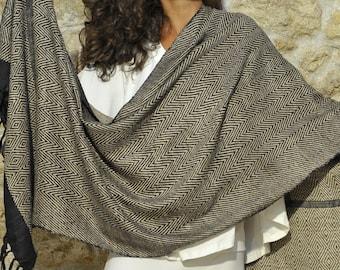 Ahimsa silk stole or silk  non-violent