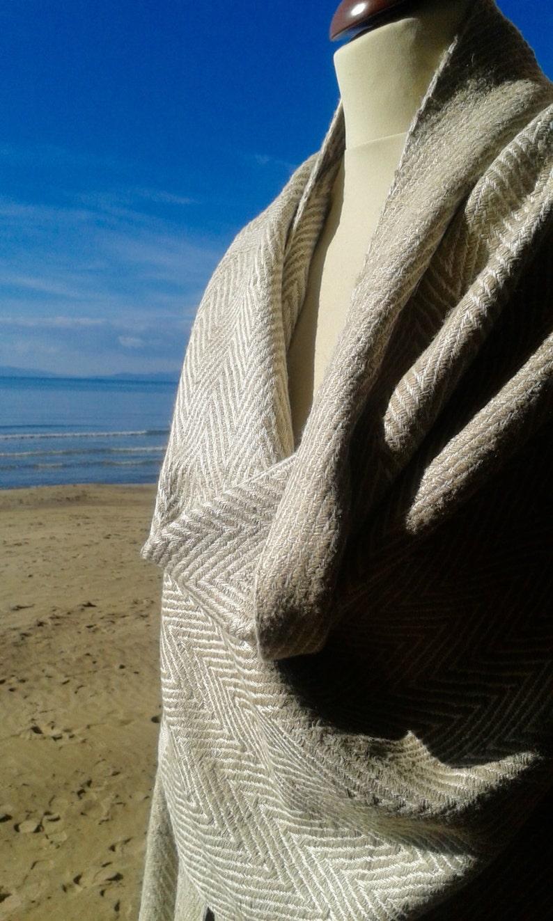 Ahimsa silk stole. Non-violent Tussah silk image 0