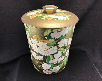 Vintage Floral Toffee Tin Made in Great Britain