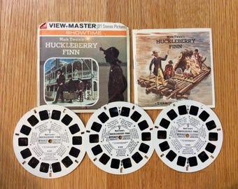 View-Master Reels Mark Twain's Huckleberry Finn Showtime Series Original Sleeve Gaf B343 Viewmaster Reels 1973 Movie Tie In