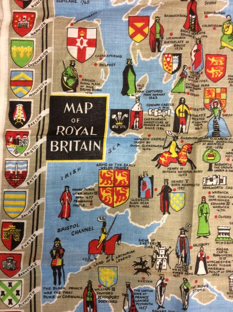 Map of Royal Britain Tea Towel Teatowel Dish Towel