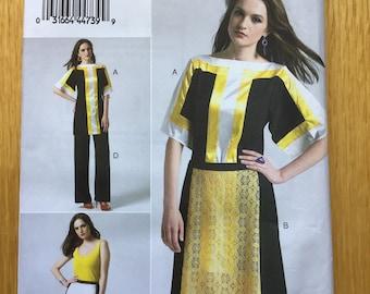 Misses Tunic Skirt and Pants Pattern Vogue VP902 Sizes 12 - 20 UNCUT