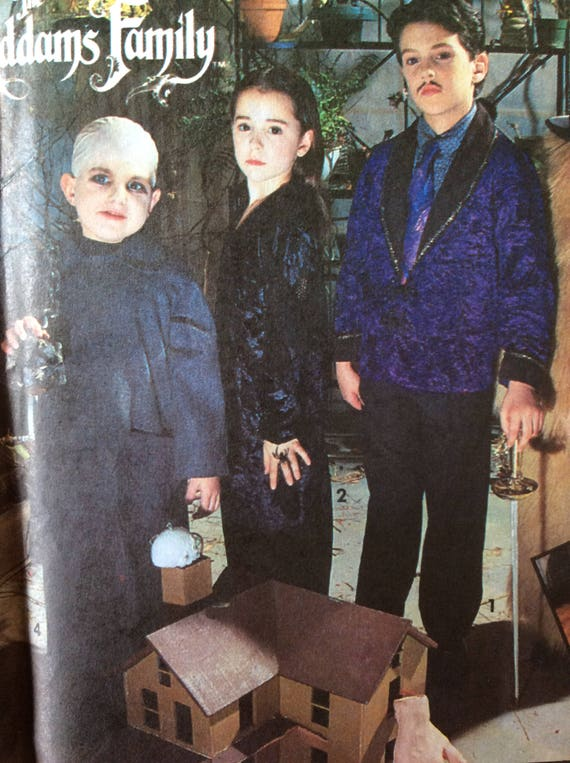 Addams Family Costumes Pattern Kids Childrens Small Etsy