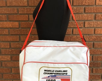 Curling Messenger Bag World Curling Championships 1989 Milwaukee Wisconsin