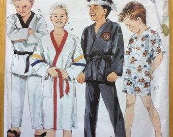 Boys Robe Tie Belt and Pajamas Pattern McCalls 3433 Size 7 8 10