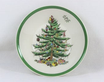 Spode Christmas Tree Fruit Dessert Sauce Bowl England