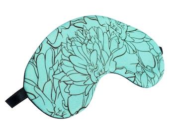 Teal Marigold Sleep Mask