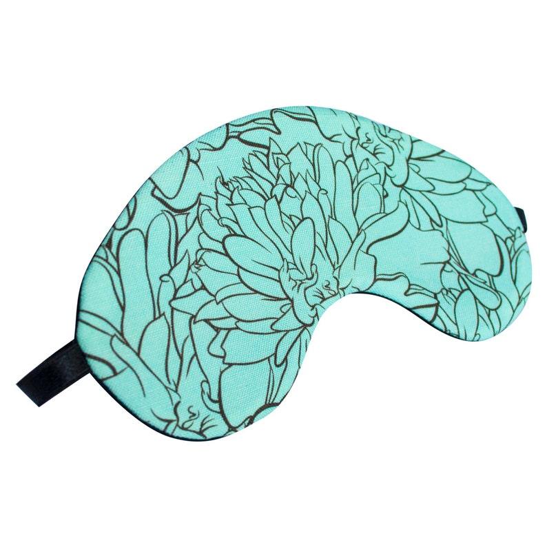 Teal Marigold Sleep Mask image 0