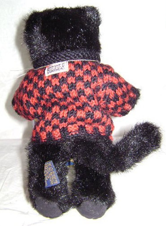 Boyds Inky Catterwall Plush Cat   Etsy 13c709c06a1