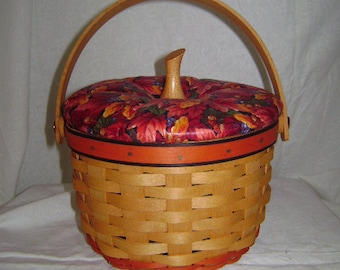 Longaberger Small Pumpkin Basket with Lid #16012