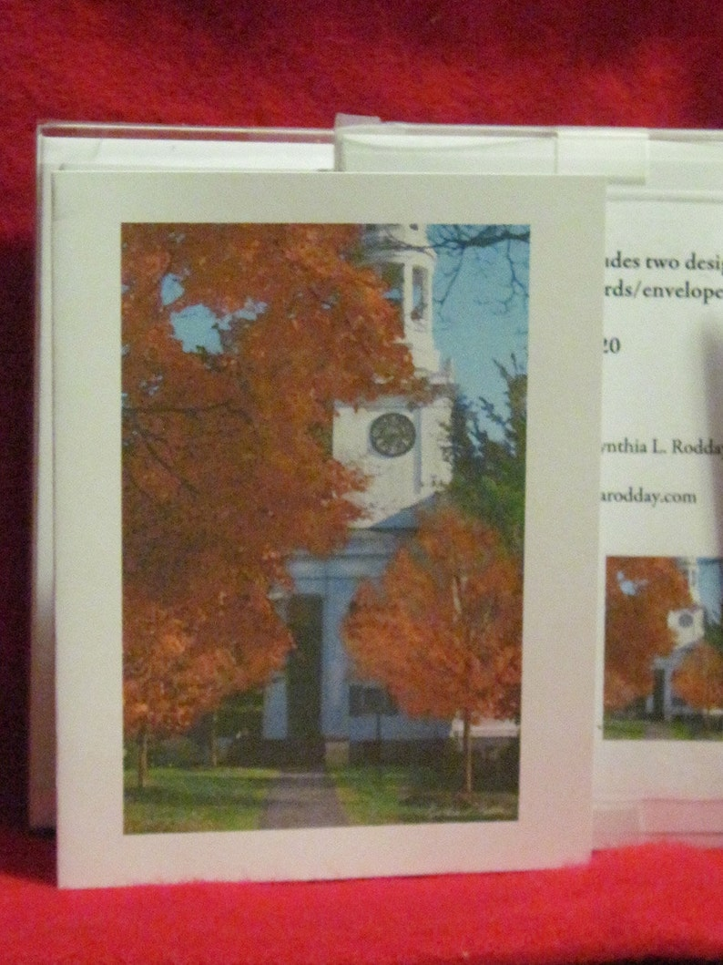 Massachusetts Church and Alleyway 10 Note Card Set Concord