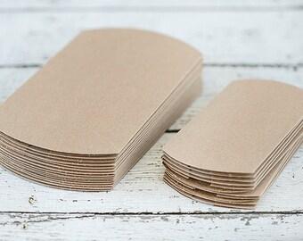 Kraft Pillow Boxes.  Gift Box. Gift Card Holder. Favor Box. Packaging.