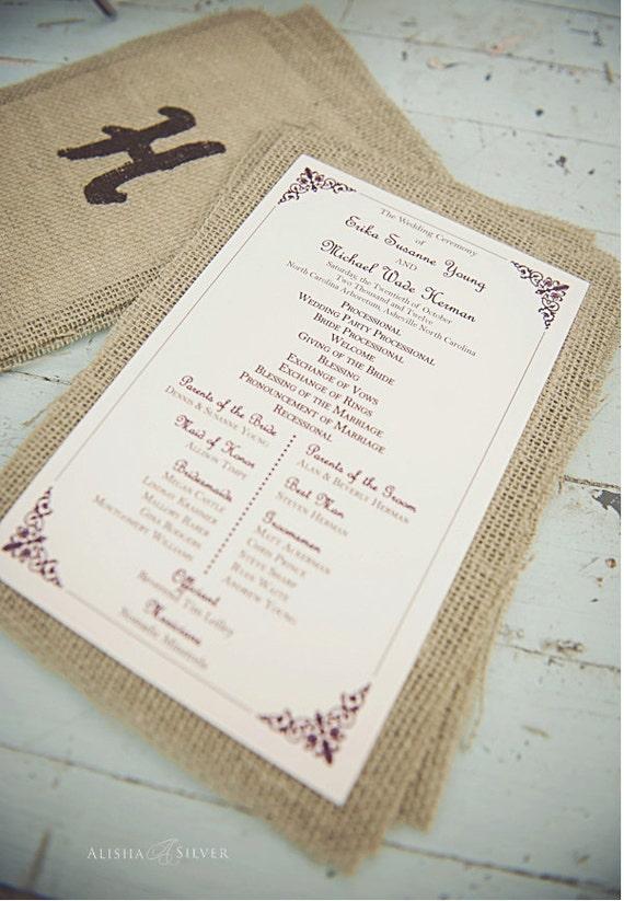 printable wedding ceremony program vintage printable program for