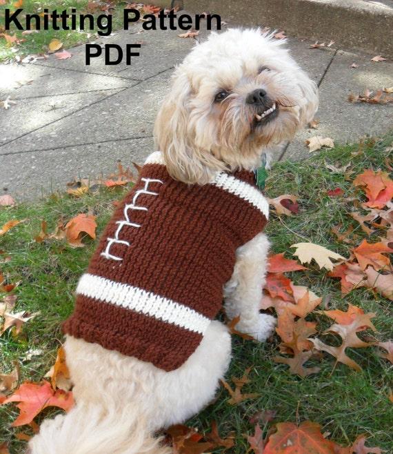 Football Dog Sweater Knitting Pattern Pdf Small Dog Sweater Etsy