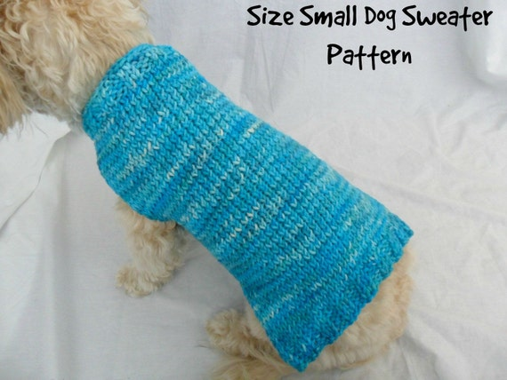 Simple Dog Sweater Knitting Pattern Pdf Small Dog Sweater Etsy