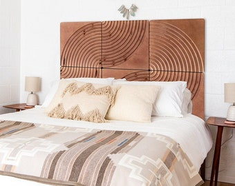 KARVD Bend -  Wood Carved Wall Panel - Sculptural Wall Art - 3D Carved Tile - Wooden Wall Paneling - Sculpted Wall Decor - Modern Headboard