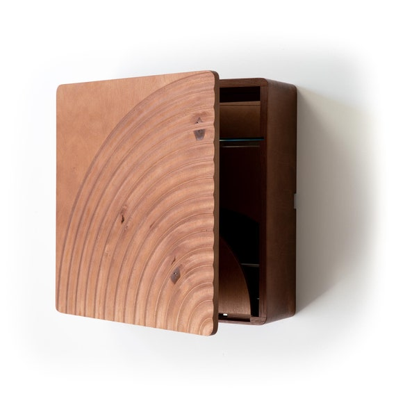 karvd bend wall mounted liquor cabinet modern cocktail bar etsy. Black Bedroom Furniture Sets. Home Design Ideas