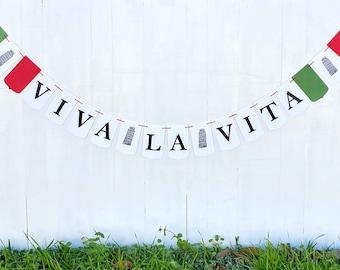 Viva La Vita   Italian Theme Party Banner