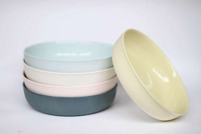 nesting bowl large  porcelain milk colour image 0
