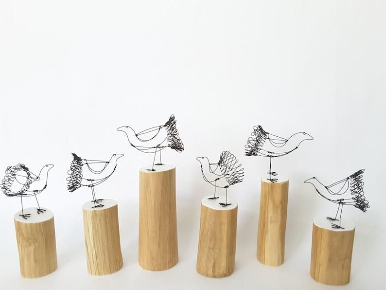 Wire chicken  chicken ornament  wire bird  bird sculpture  image 0