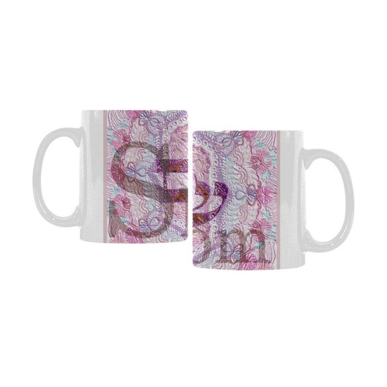 coffee mug breakfast mug-shipping free-original gift-unique gift office mug hand painted design Shalom-Artistic Ceramic mug
