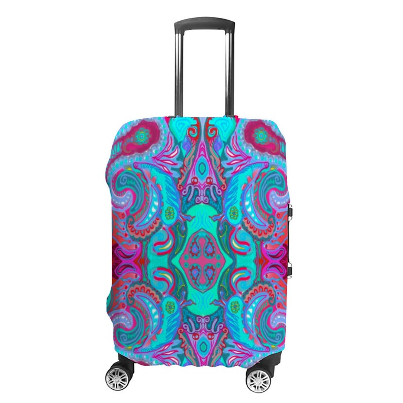 Artistic Luggage Case Cover-Polyester-4 sizes dust and scratches protect-travel gift-useful helps to find your luggage faster