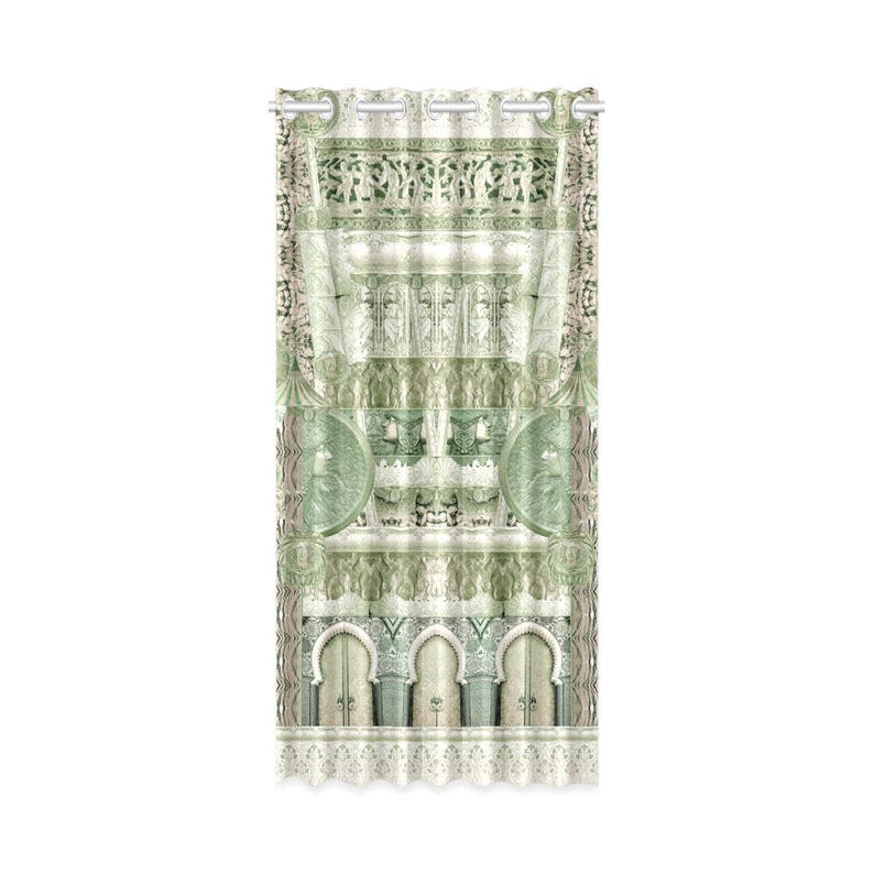 Art deco Assorted curtains kitchen decor-room decor-home decor curtain panels ready to hang 3D effect artistic handpainted design