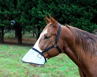 Halter free nose shade with throat latch and sheepskin!