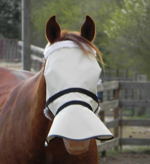 Full Face Shade 90/% UV protection doubles as fly mask no more sunscreen GREAT!