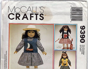 "18"" (45.5cm) Doll Clothes / Original McCall's Crafts Uncut Sewing Pattern 9390"
