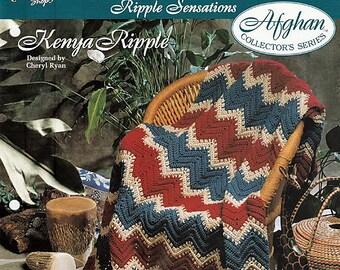 Kenya Ripple Afghan Crochet Pattern The Needlecraft Shop 942120