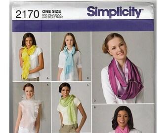 Scarves / Original Simplicity Uncut Sewing Pattern 2170