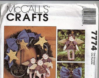 A Guardian Angel Christmas / Original McCall's Crafts Uncut Sewing Pattern 7774