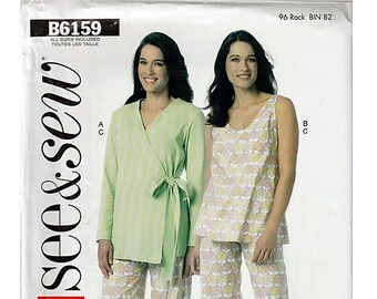 Misses Robe, Top and Pants / Original See & Sew Butterick Uncut Sewing Pattern B6159
