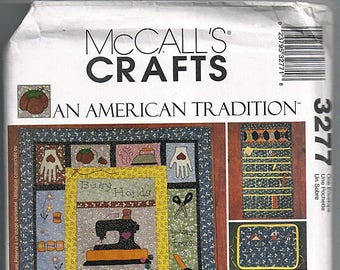 An American Tradition Sewing Room Accessories / Original McCall's Crafts Uncut Sewing Pattern 3277