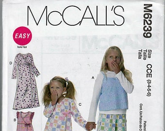 Children's Tops, Gown, and Pants / Original McCall's Uncut Sewing Pattern M6239