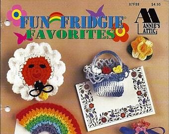 Fun Fridgie Favorites Crochet Pattern Book Annie Attic 87F88