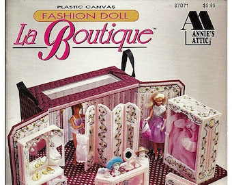 Fashion Doll LA Boutique Plastic Canvas Pattern Annies Attic 87D71